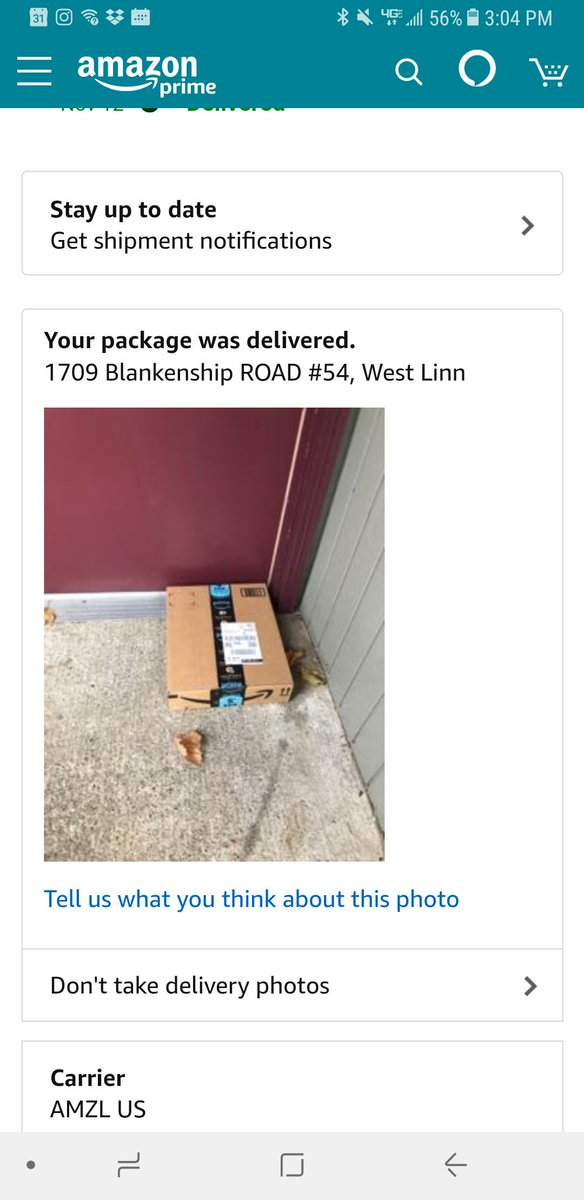 Kari M Young On Twitter Amazon Amazonhelp Delivered To The Wrong Address And Didn T Even Verify It Was Received By The Right Person I Don T Live There And Just Left For The New Tenant