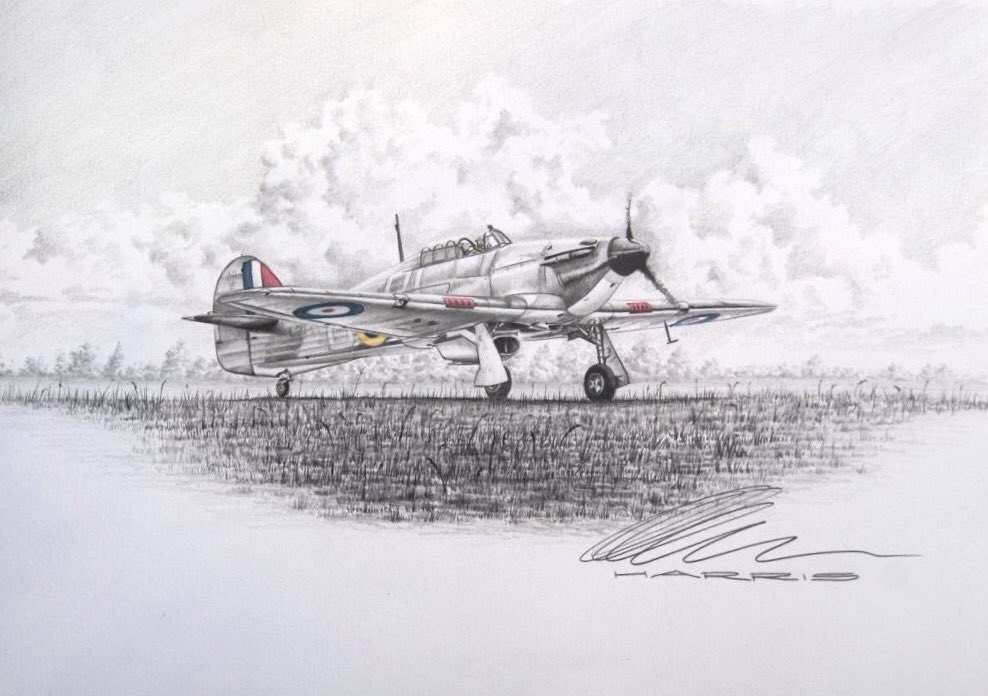 My exhibition at Shoreham Airport continues and includes this new mixed media picture of a Hawker Hurricane #hawker #hurricane #BattleofBritain #raf #bbmf #WWII<br>http://pic.twitter.com/fDh5GVGcOI
