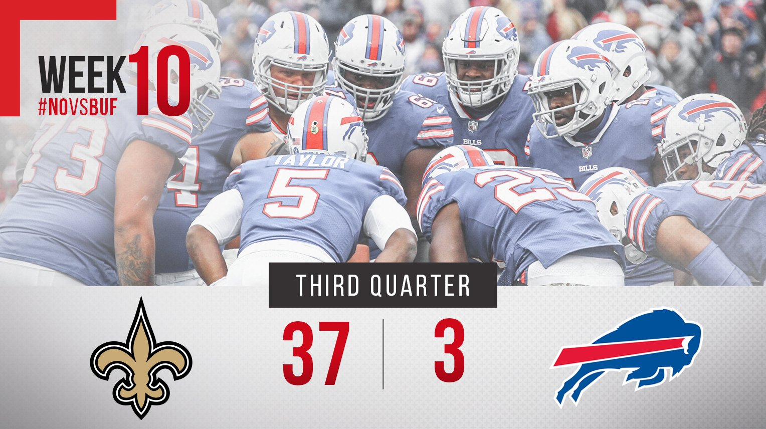 End of three. #NOvsBUF https://t.co/cKfDoB07Md