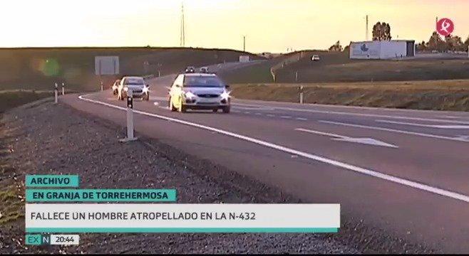 Un hombre ha fallecido esta tarde tras ser atropellado en la N-432. Ha ocurrido en Granja de Torrehermosa. #EXN https://t.co/j1zNfUYjfe