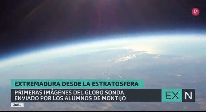 Ayer os contábamos la iniciativa, y hoy os mostramos las imágenes: de Montijo a Bienvenida pasando por la estratosfera: impresionante🎈😲🌎. https://t.co/3L5bWLE1pd