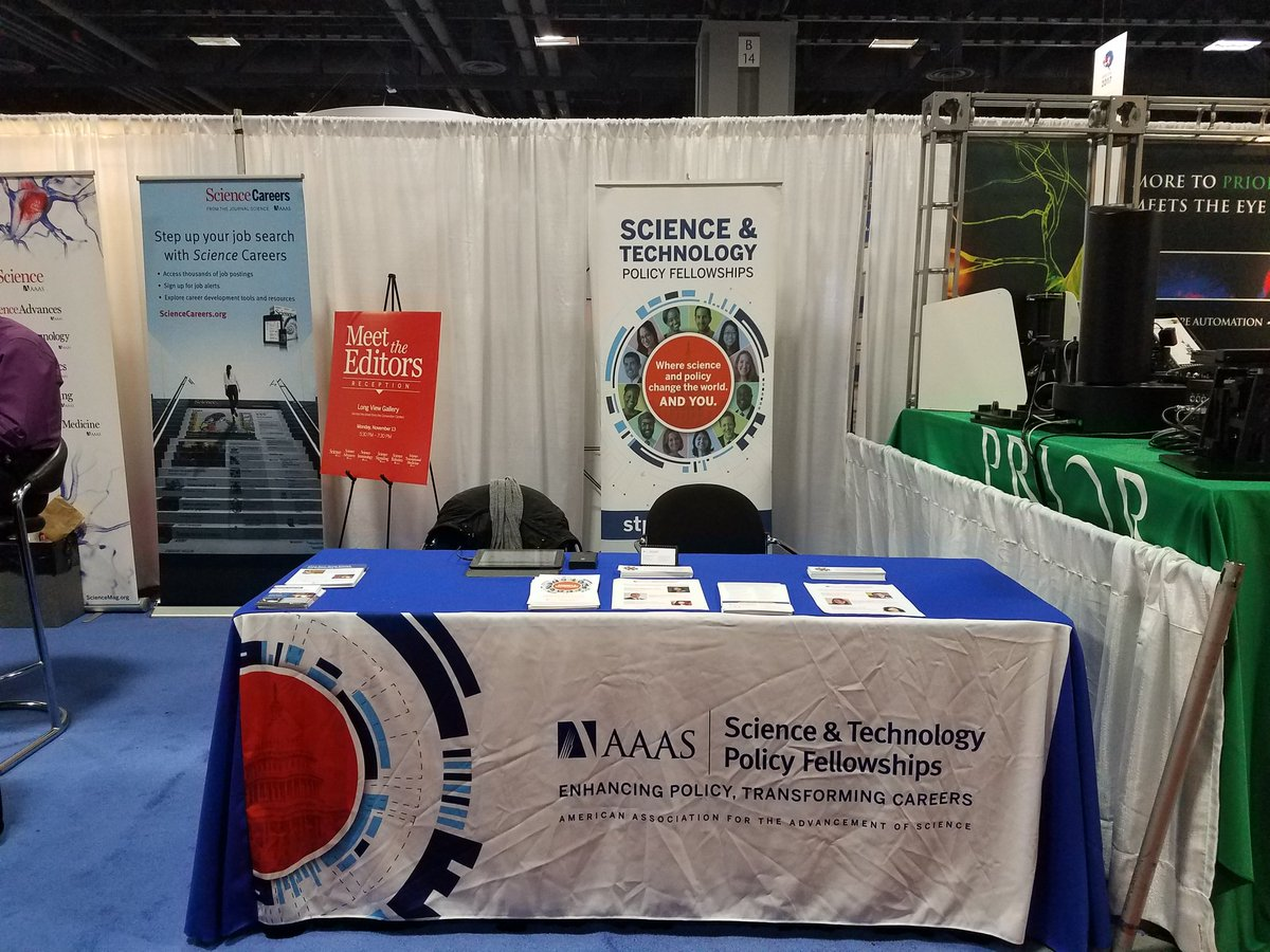Wondering how you can be a #Force4Science to impact #scipolicy ? Visit @AAAS_STPF at booth 2212  @Neurosci2017. #SfN17<br>http://pic.twitter.com/LbgvFe5JuT