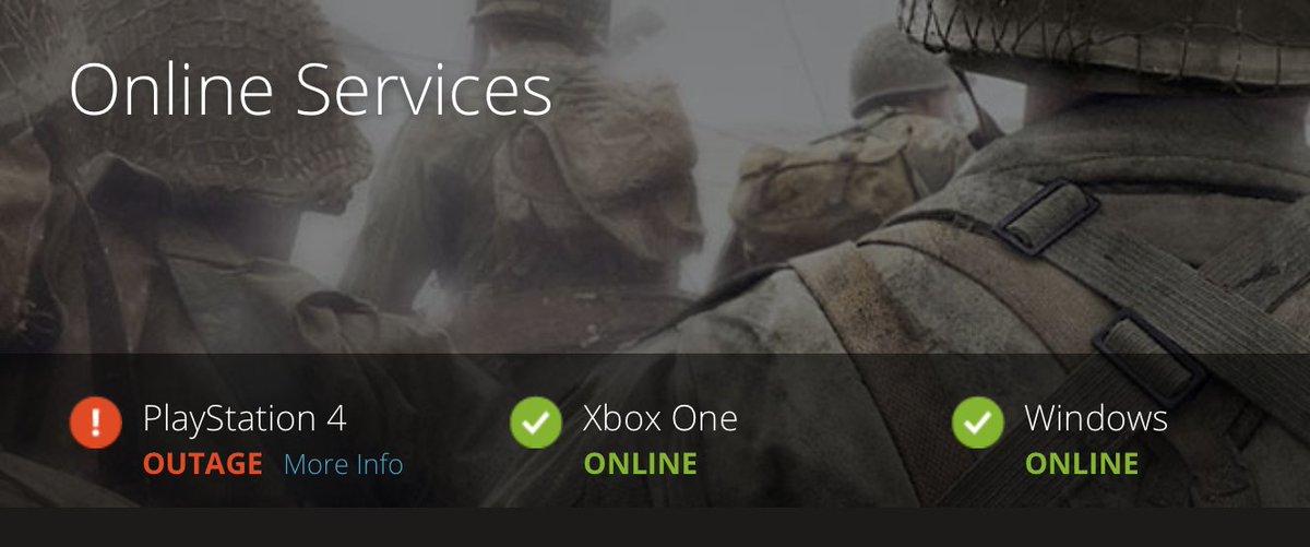 Modern warfare server status