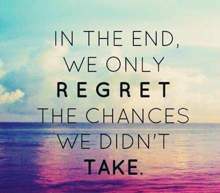 IN THE END, WE ONLY #REGRET THE CHANCES WE DIDN'T #TAKE  via @NADIANASREDDINE  #InspireThemRetweetTuesday #ThinkBIGSundayWithMarsha  #IQRTG #JoyTrain #Love #SuperSoulSunday #World #Life #Motivation #Wisdom #MotivationMonday #MondayMotivation<br>http://pic.twitter.com/wzydKpRq6h