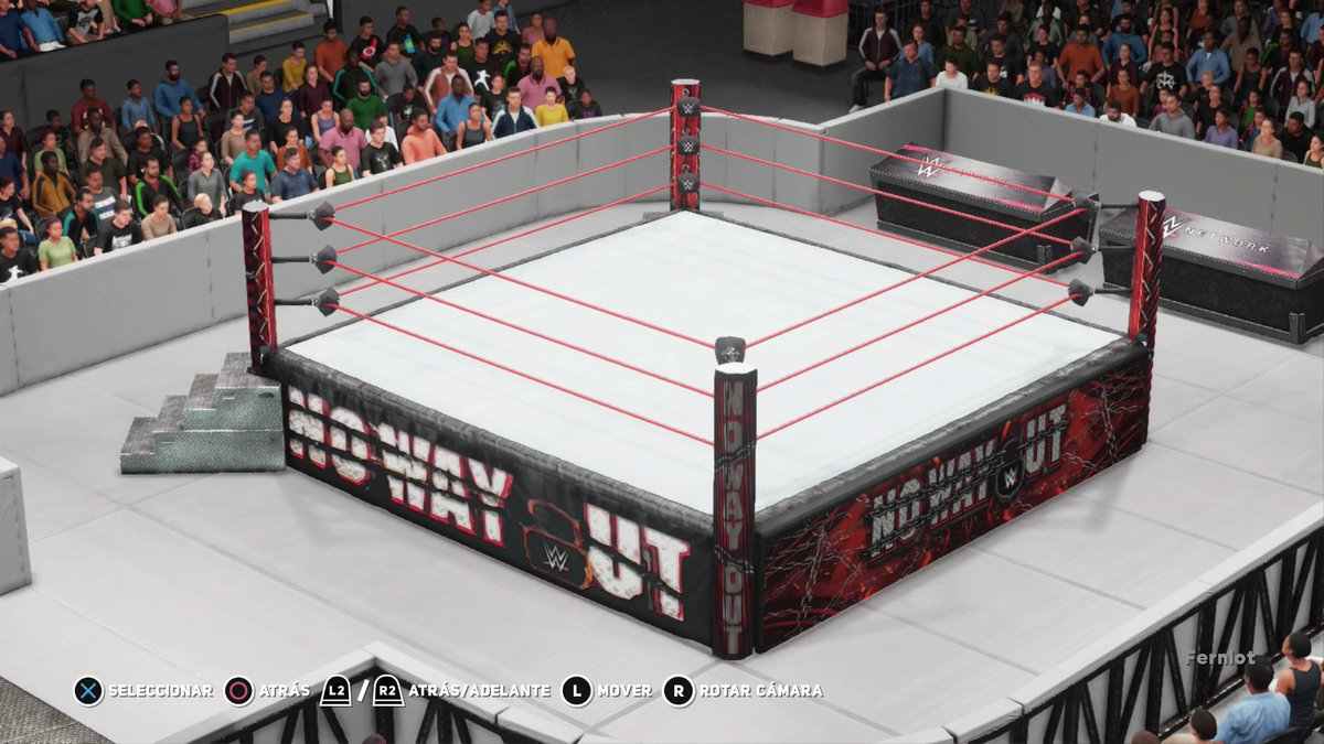 Fernlot On Twitter Wwe2k18 No Way Out Custom Arena Up On Ps4 Cc