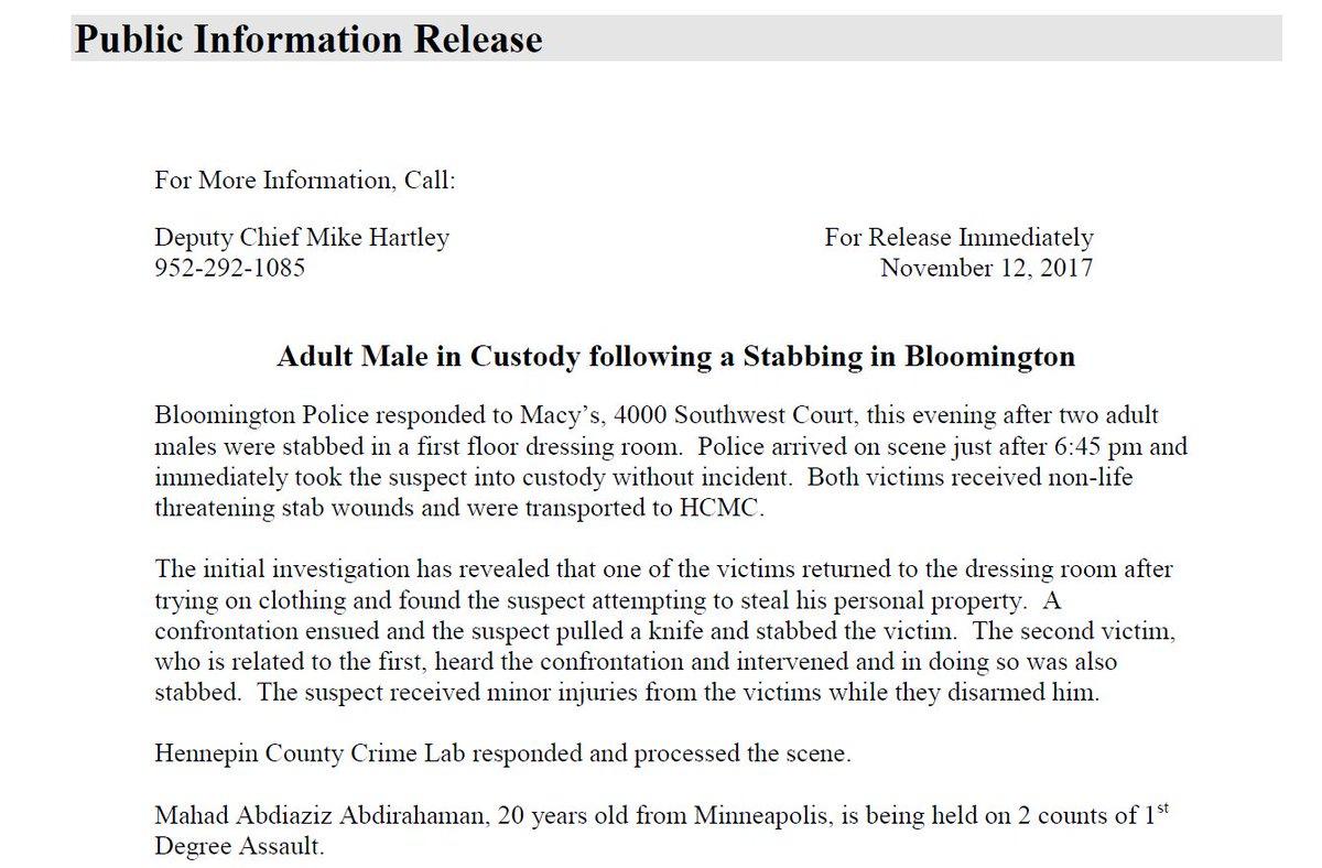 Mahad Abdiaziz Abdirahaman Mall of America Somali Muslim stabber