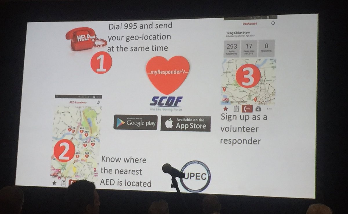 """It's not about building an app it's about  building a community."" Another great #crowdsourcing #cardiacarrest bystander response #mApp being used in Singapore. #CPRsaveslives #ReSS17 #AHA17<br>http://pic.twitter.com/v1iCbKKbHz"