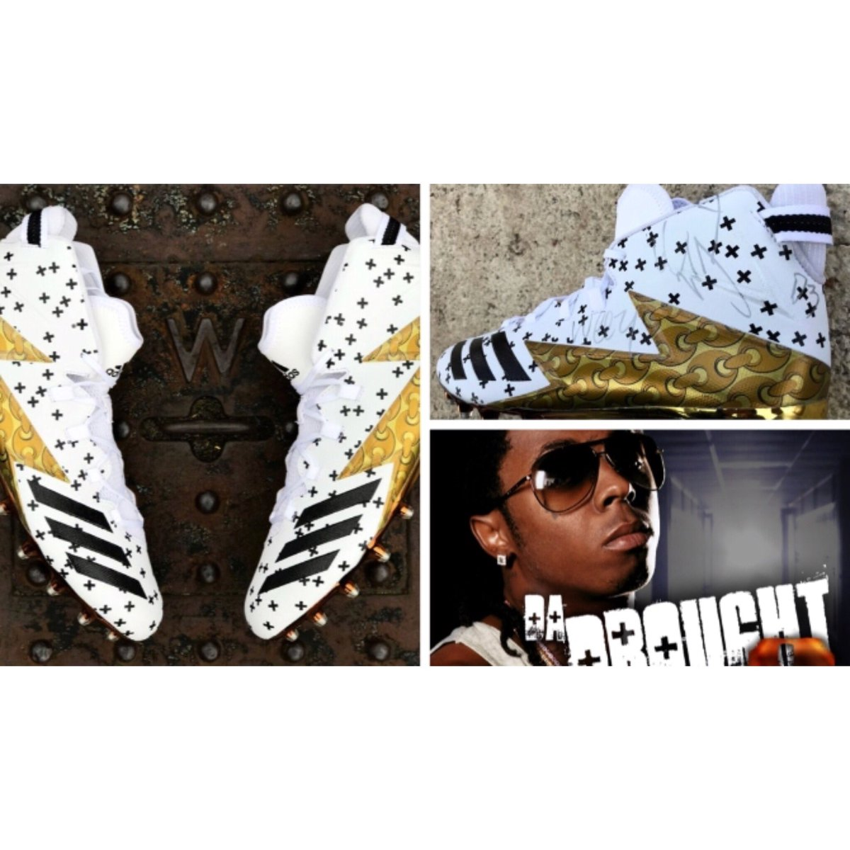 Shout out to my lil bro @vonmiller for creating the cleats dedicated 2 Da Drought 3!! Luv! @adidas #youngmoney https://t.co/CNYLssAS0Y