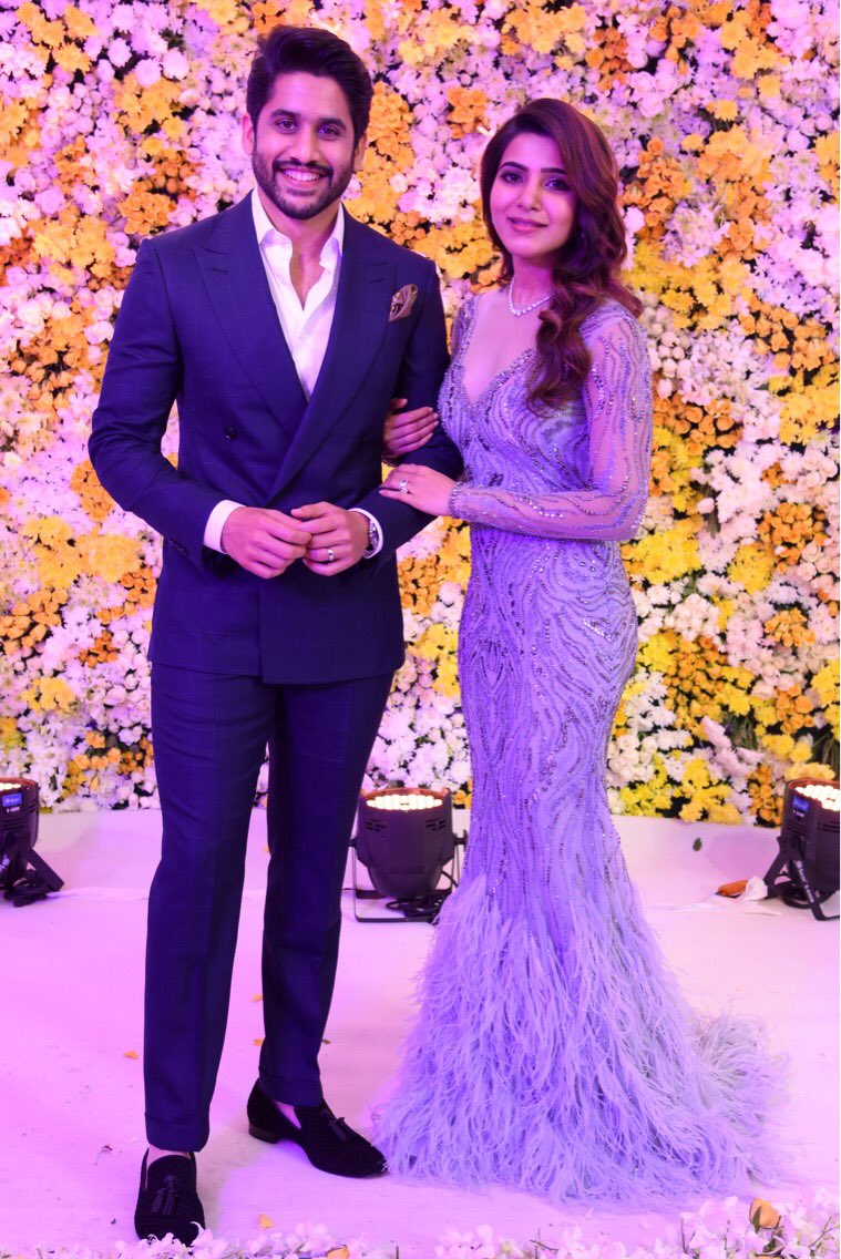 Latest pictures and inside gossips from Samantha Naga Chaitanya Hyderabad reception