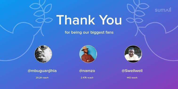 Our biggest fans this week: @mbuguanjihi...
