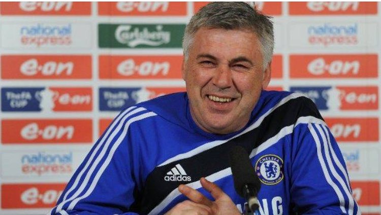 """Carlo Ancelotti on managing Arsenal:   """"As far as I'm concerned there's only two teams in London, #Chelsea and #Chelsea Reserves."""" <br>http://pic.twitter.com/H9T3JybwfB"""