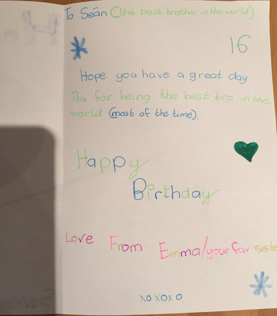 Joe Leddin On Twitter Cant Beat The Homemade Birthday Card For