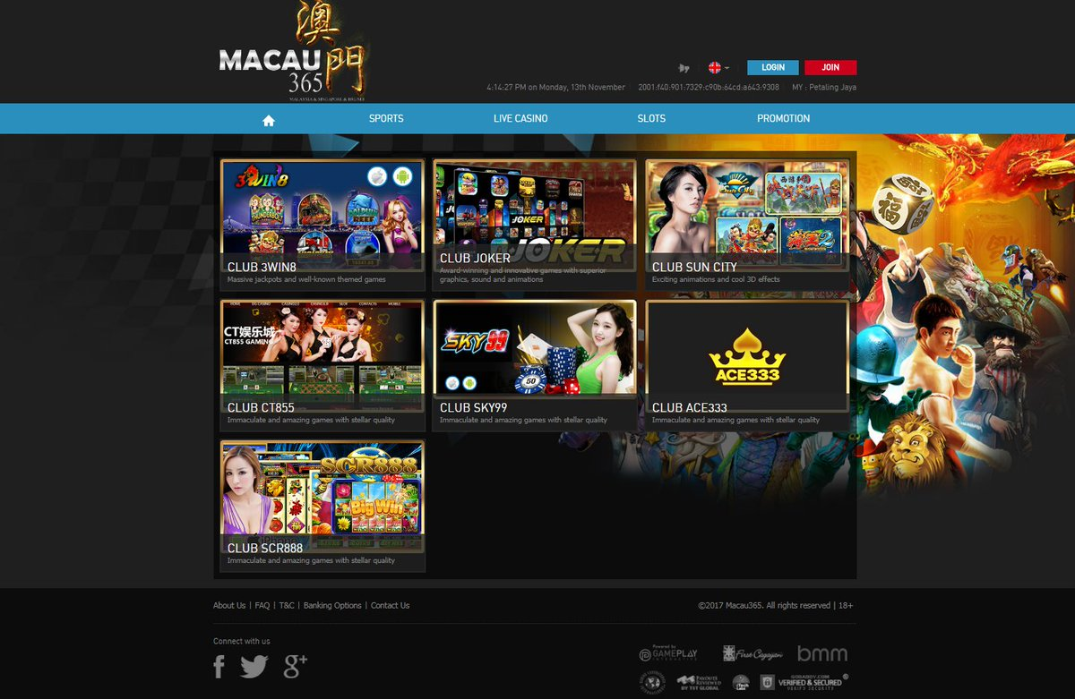 Macau365 On Twitter More Than 100 Slot Games In One Platform Easy Win Easy Withdrawal Welcome Bonus 100 Up To Sgd888 Join Us Now For Sports Betting At Https T Co Vkd6hn3tcl Whatsapp Https T Co Favcwxcosr