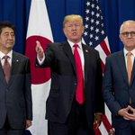 安倍晋三首相がトランプ米大統領とターンブル豪首相と会談 北朝鮮情勢などで意見交換 sankei.co…
