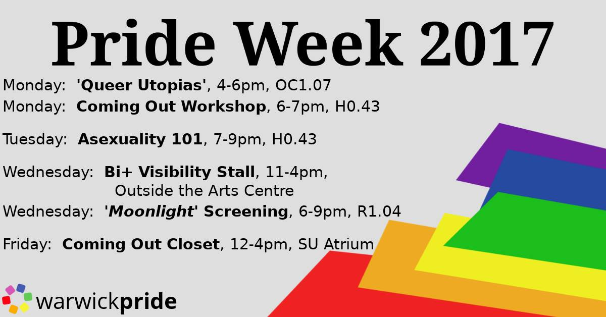 Pride Week 2017 Flyer with film showings