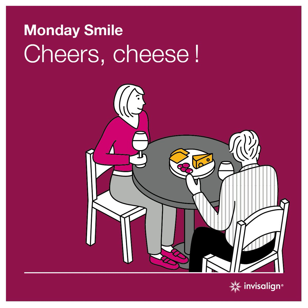Cheers-cheese ! :) #mondaysmile #diner #frenchcheese #smile #sourire #aligners https://t.co/AiBCxSo1RM