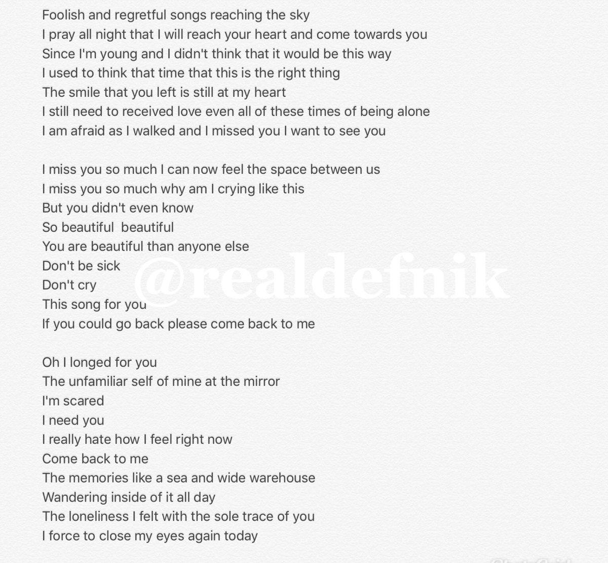 """ㄹㅇㄷㄴ on Twitter """"[ENGTRANS] Wanna One 'Beautiful' lyrics ..."""
