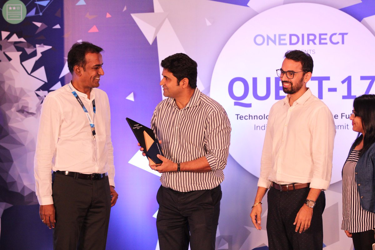 """Congratulations to @reliancejio for winning """"Best Overall Customer Experience Award"""" in Telecom/DTH category at #Quest2017 https://t.co/Fn2tDRo0LS"""