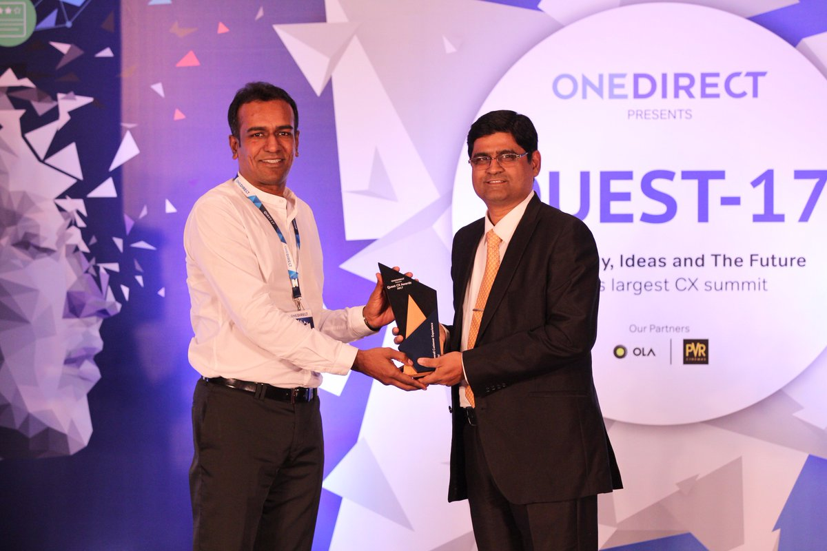 """Congratulations to @sony_india for winning """"Best Overall Customer Experience Award"""" in Consumer Electronics category at #Quest2017 https://t.co/MWFpkIC9oi"""