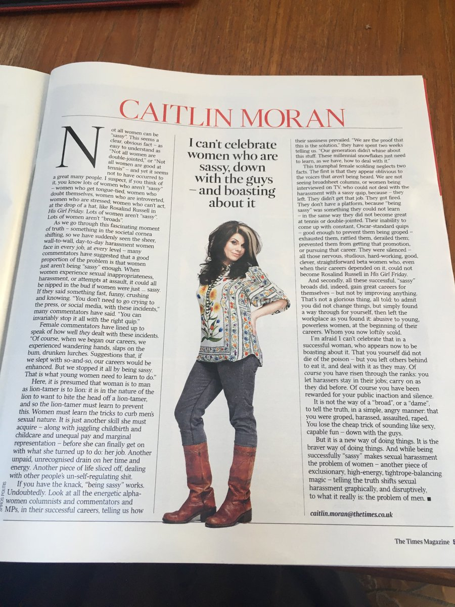 If I could write even half as well as @caitlinmoran this exactly what I'd say! https://t.co/l5WvGbenCS
