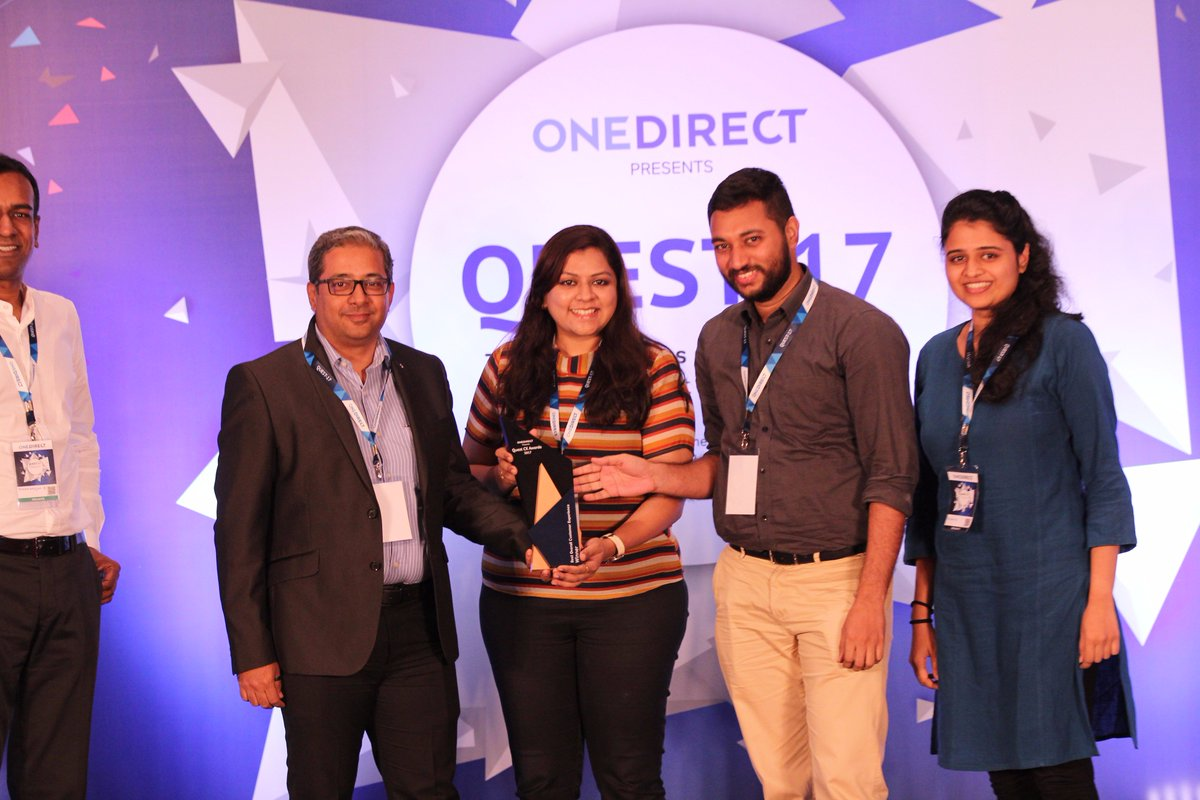 """Congratulations to @HDFC_Bank for winning """"Best Overall Customer Experience Award"""" in BFSI category at #Quest2017 https://t.co/AQsWh4veUC"""