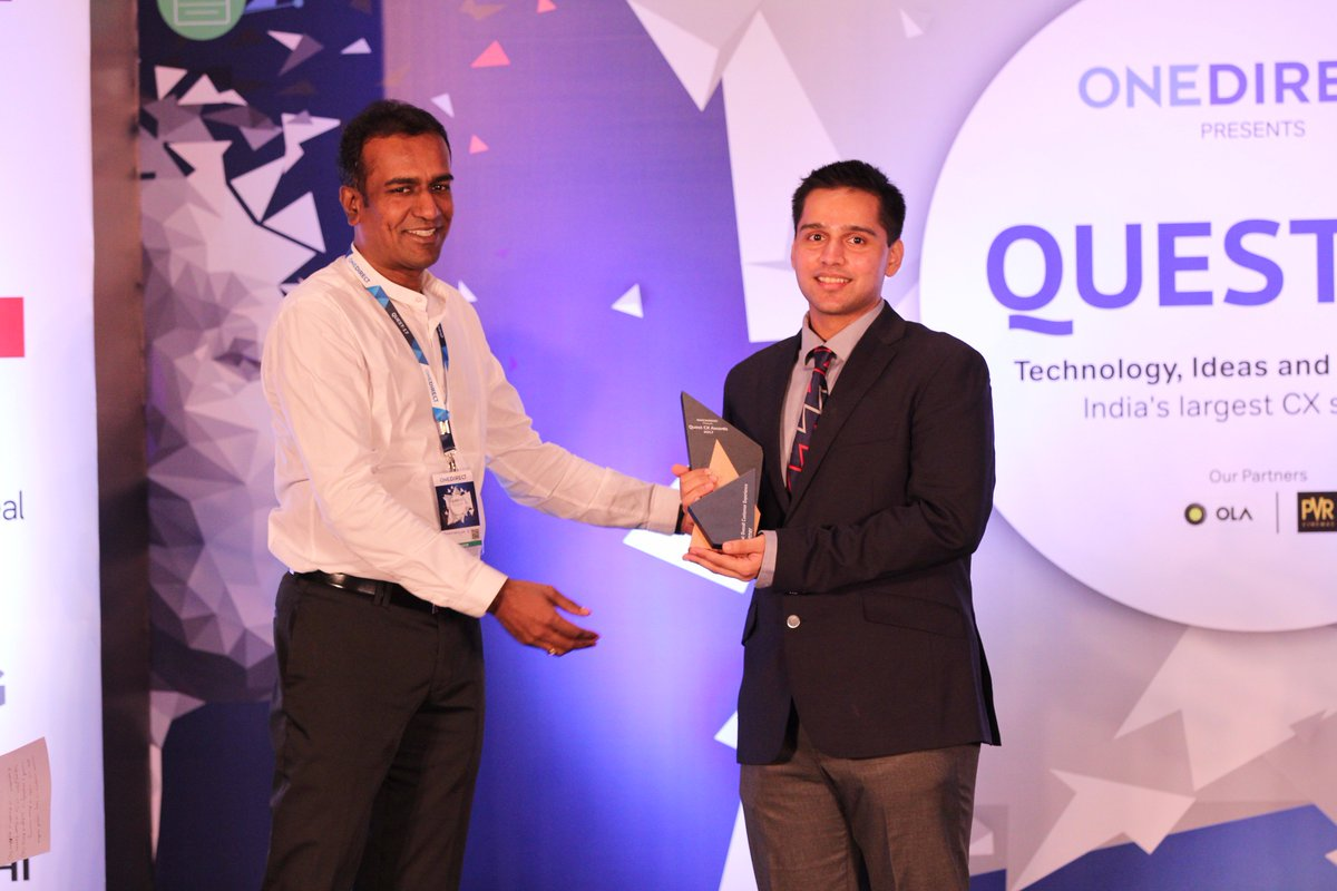 """Congratulations to @IndiGo6E for winning """"Best Overall Customer Experience Award"""" in Travel & Hospitality category at #Quest2017 https://t.co/qNMlfSF0AF"""