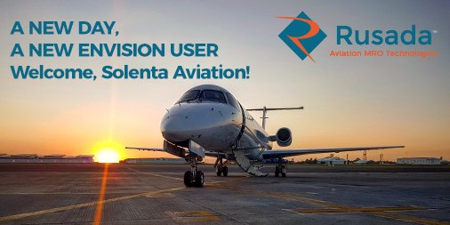 We are delighted announce Solenta Aviation as the latest Envision user. Welcome to the club! #avgeek #aviation # maintenance https://t.co/GIJVDLGHFU