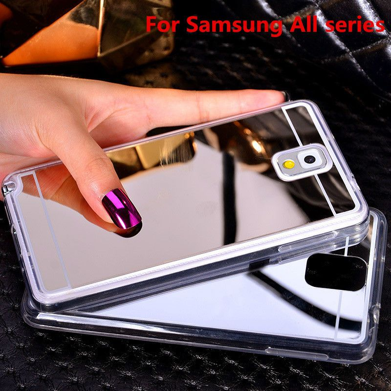 Like and Share if you want this Plating Mirror Soft TPU Back Case Cover For S...