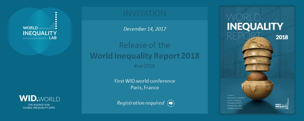 Wid on twitter registrations are still open for the first registrations are still open for the first httpwid conference includ the release of the world inequality report 2018 wir2018 by alvaredo stopboris Gallery