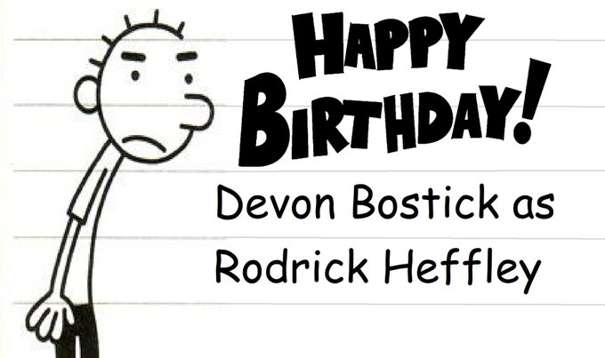 Happy Birthday, Devon Bostick AKA, Rodrick Heffley!