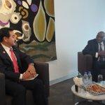 【第4回ダカール安全保障フォーラム@セネガル】朝の8時にダカールに到着後、会場に直行。カバ外務大臣と…