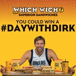 DFW @swish41 @dallasmavs fans: you can win an unforgettable #DayWithDirk! Visit Which Wich & snap a photo by 11/27 to enter. Plus, check out our special DirkWiches, benefitting the Dirk Nowitzki Foundation! https://t.co/h3lEICaE5i