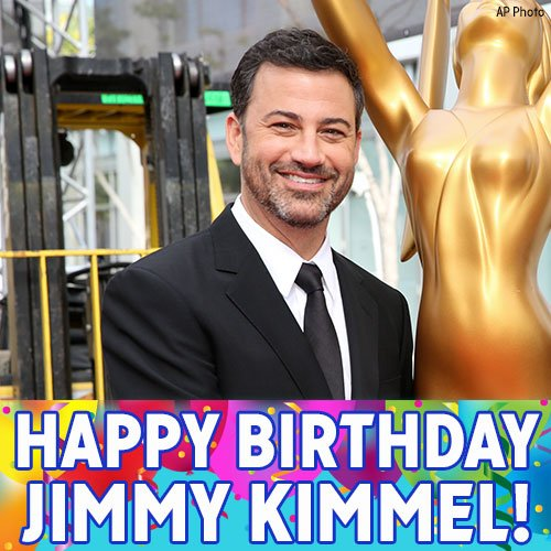 Happy Birthday, Jimmy Kimmel! ABC s own late-night talk show host turns 50 today