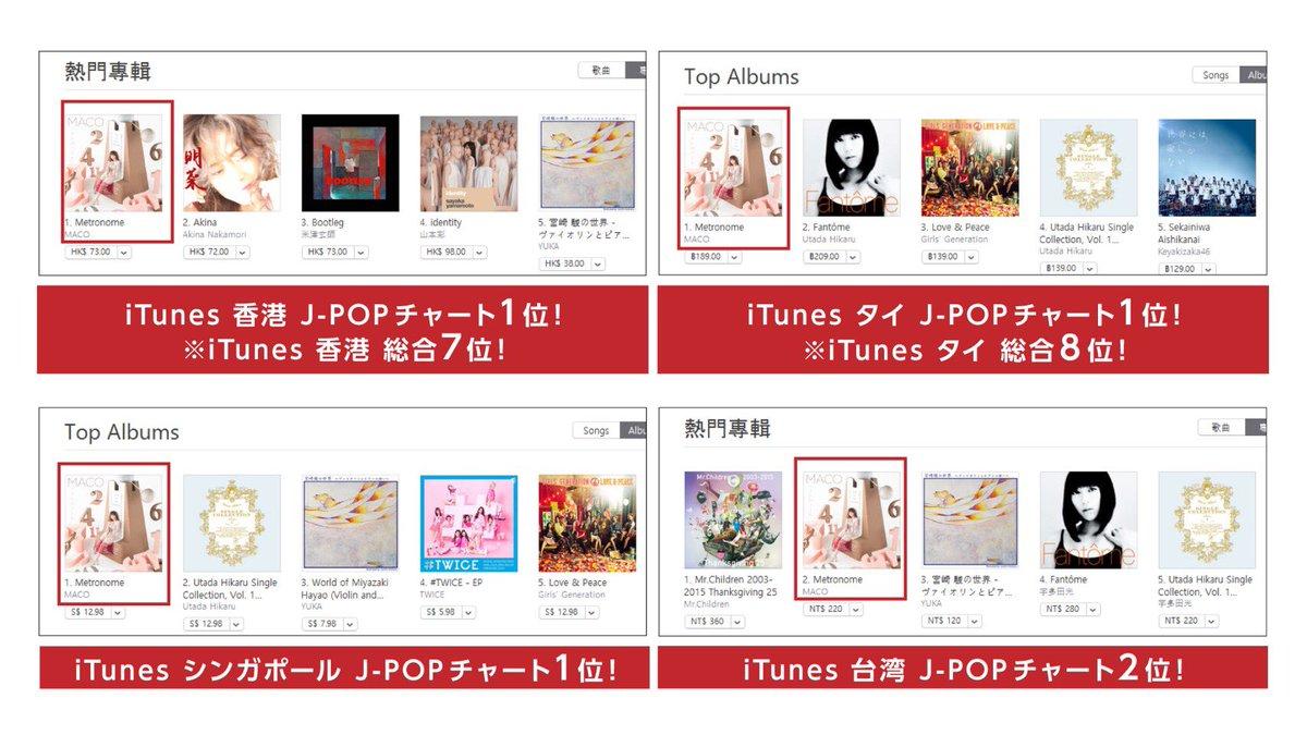 香港 J-POP 1位 タイ J-POP 1位  シンガポール J-POP 1位 台湾 J-POP …