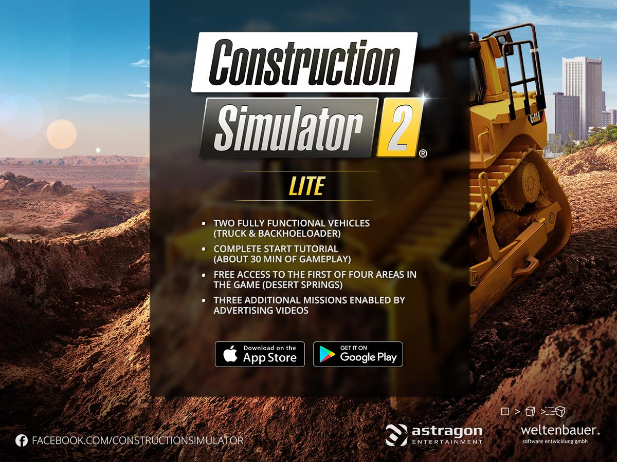 ... Free Construction Simulator 2 Lite Is Now Also Available For IPhone And  IPad! Https://itunes.apple.com/app/construction Simulator 2 Lite/id1277642717  U2026