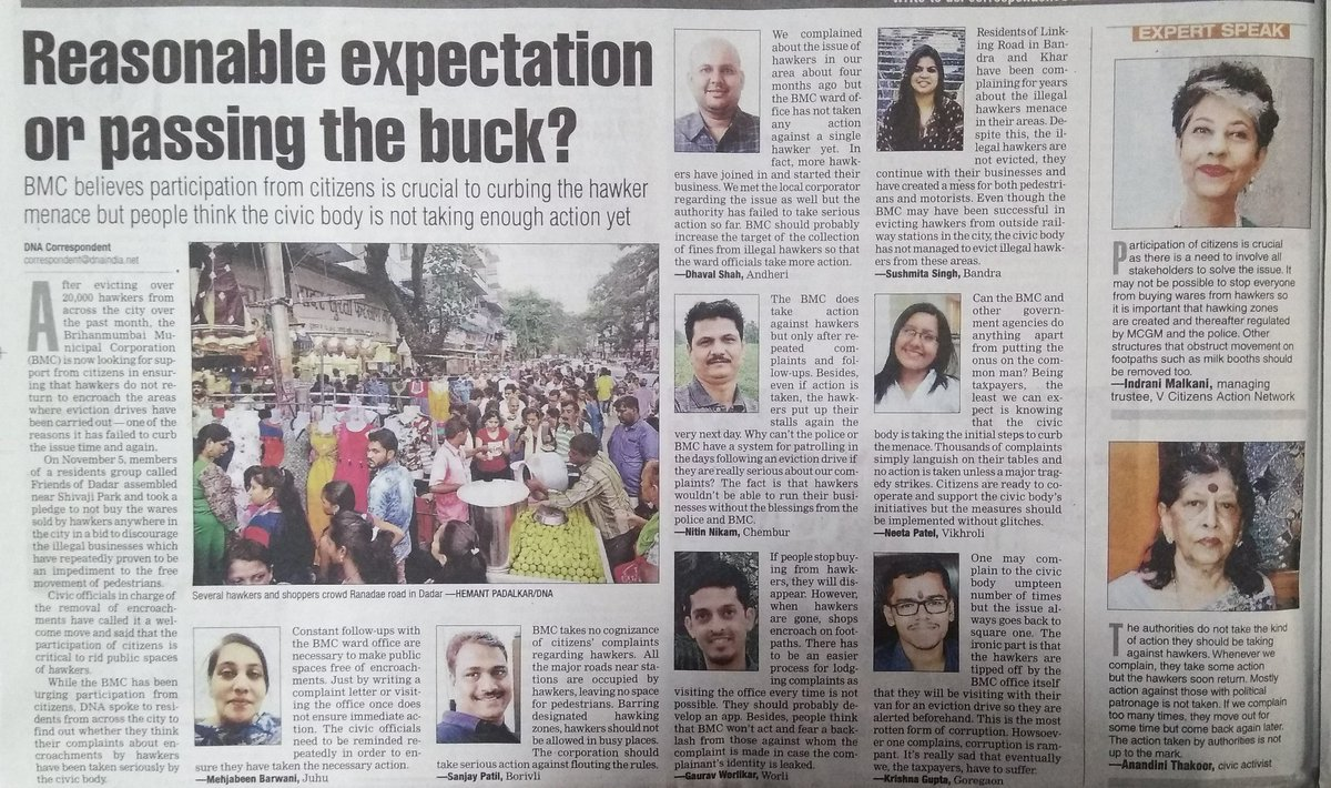 Participation of citizens is crucial as there is a need to involve all stakeholders to solve the issue: @indranimalkani on the #hawker issue  #vcan4mumbai<br>http://pic.twitter.com/0tzrfBDo1w