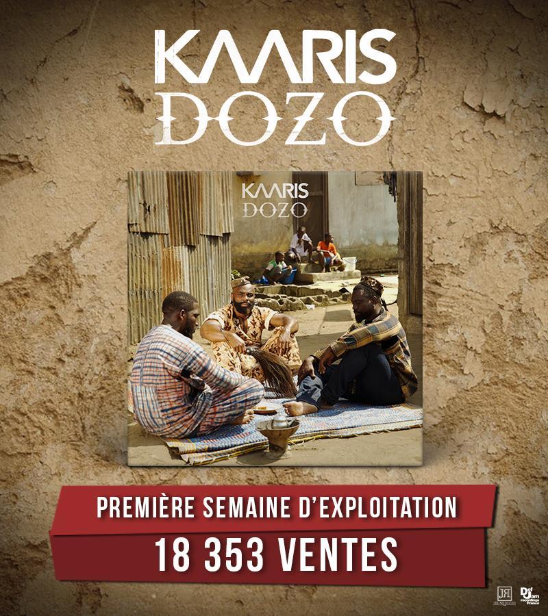 Kaaris a réalisé 18353 ventes en première semaine d'exploitation avec son quatrième album #Dozo !  Album dispo ici   http:// Kaaris.lnk.to/Dozo     pic.twitter.com/siW4yoPqpX
