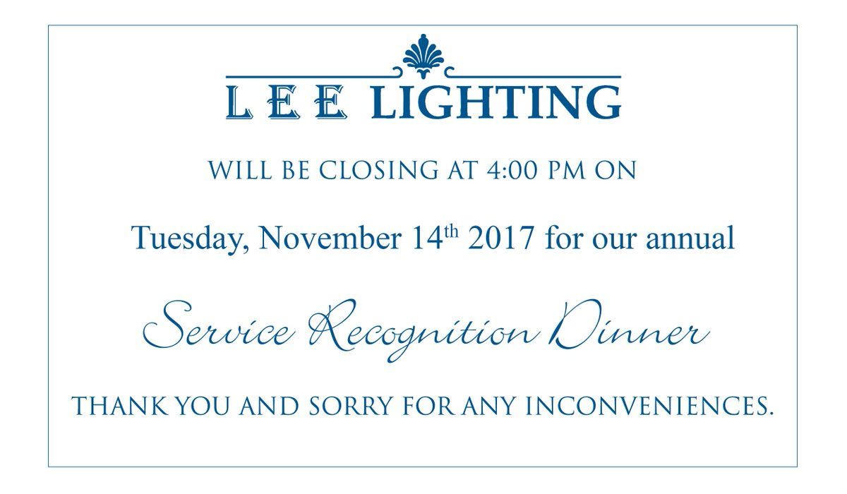 Lee Lighting On Twitter Reminder Our