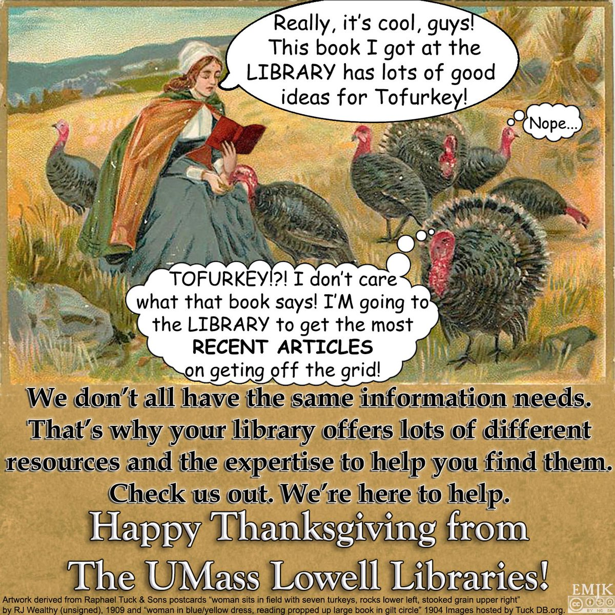 Whether you&#39;re looking for inspiration for a project or want information  to solve a problem, we&#39;re here to help you find the resources you need  in the formats you want. Check us out! #Libraries #AcademicLibraries #UML #UMassLowell #Thanksgiving #LibrariesOfTwitter<br>http://pic.twitter.com/MBoaM3aHNO