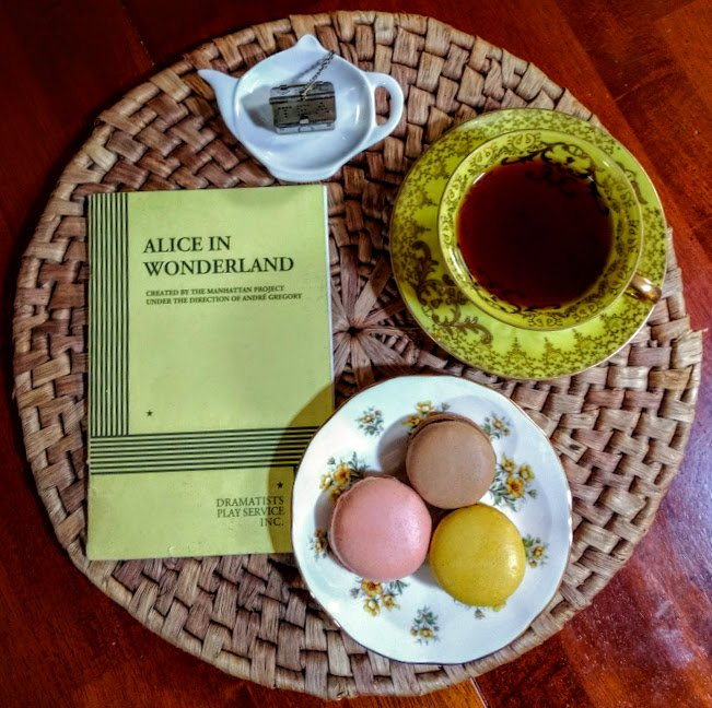 Just a pretty picture, for no reason at all #bookpic #macaron #teacup #TeaParty #aliceinwonderland<br>http://pic.twitter.com/cjFBbDUCnj