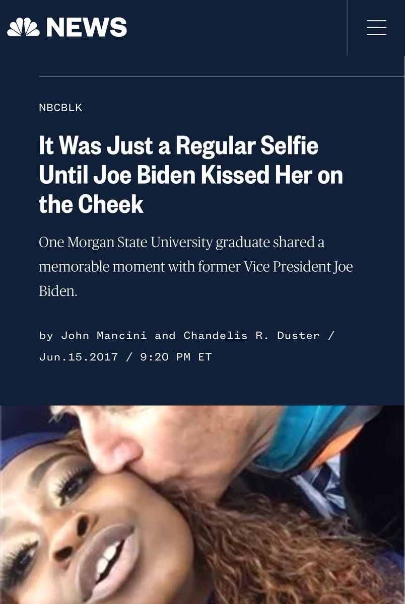 The media has even acknowledged that former Vice President Joe Biden clearly has a problem controlling his behavior around women and young girls.