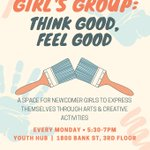 Youth Girl's Group today at 5:30. A space for newcomer girls to express themselves through arts and creative activities. https://t.co/iNq5eMrX02