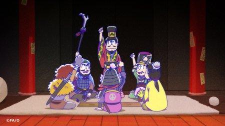 「おそ松さん」第7話、本日もご覧頂きましてありがとうございました! 御意ー!御意御意ー!! #おそ松…