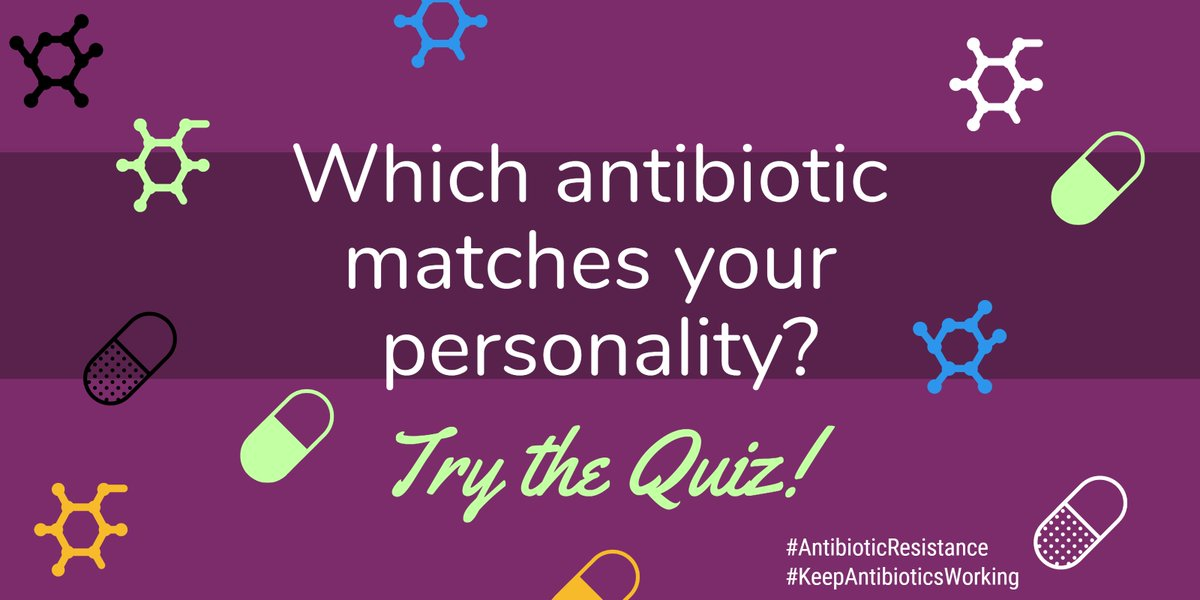 This is a hoot! Which antibiotic matches your personality? I got vancomycin...