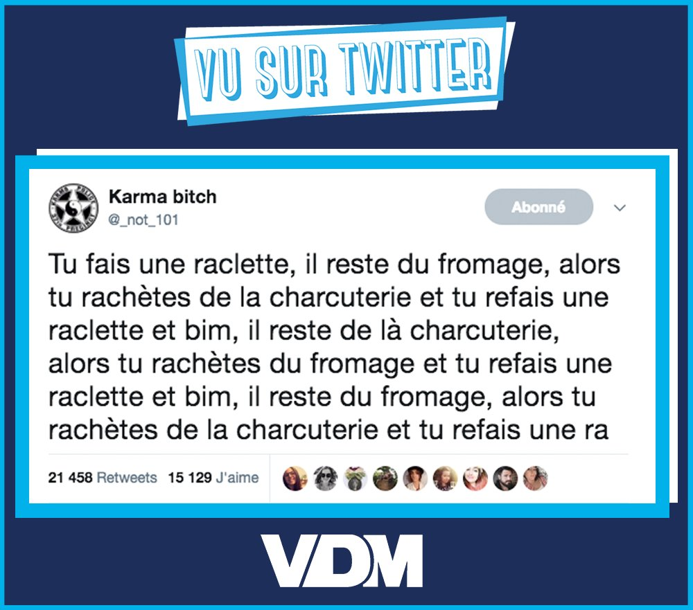 Vous connaissez la 'Loi de la Raclette' ? #VDM #viedemerde #vusurtwitter @_not_101