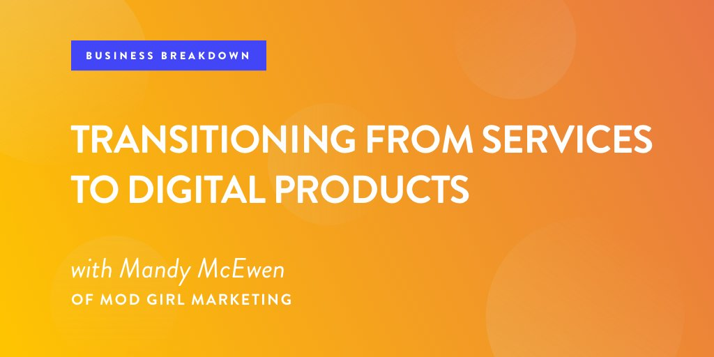 CEO and cofounder @mandymodgirl of @ModGirlMktg shares what she learned when she shifted her business model from a service model to digital product offerings. Don't miss this #podcast episode! https://t.co/Nt9Nn95ygS