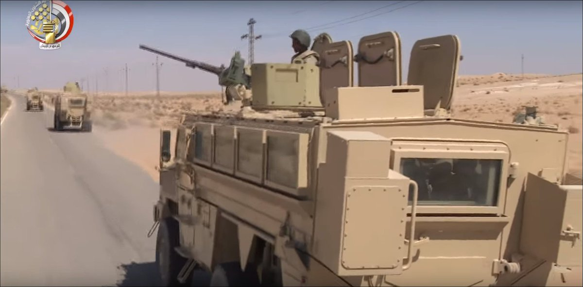 #Egypt- RG-33 MRAPs on counter-militancy operation in Central #Sinai <br>http://pic.twitter.com/5OMd3xDArl