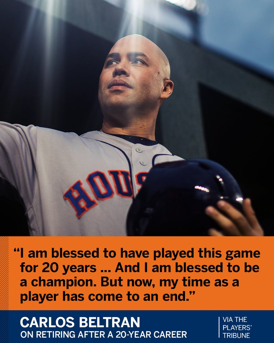 Carlos Beltran finished his career a champion.
