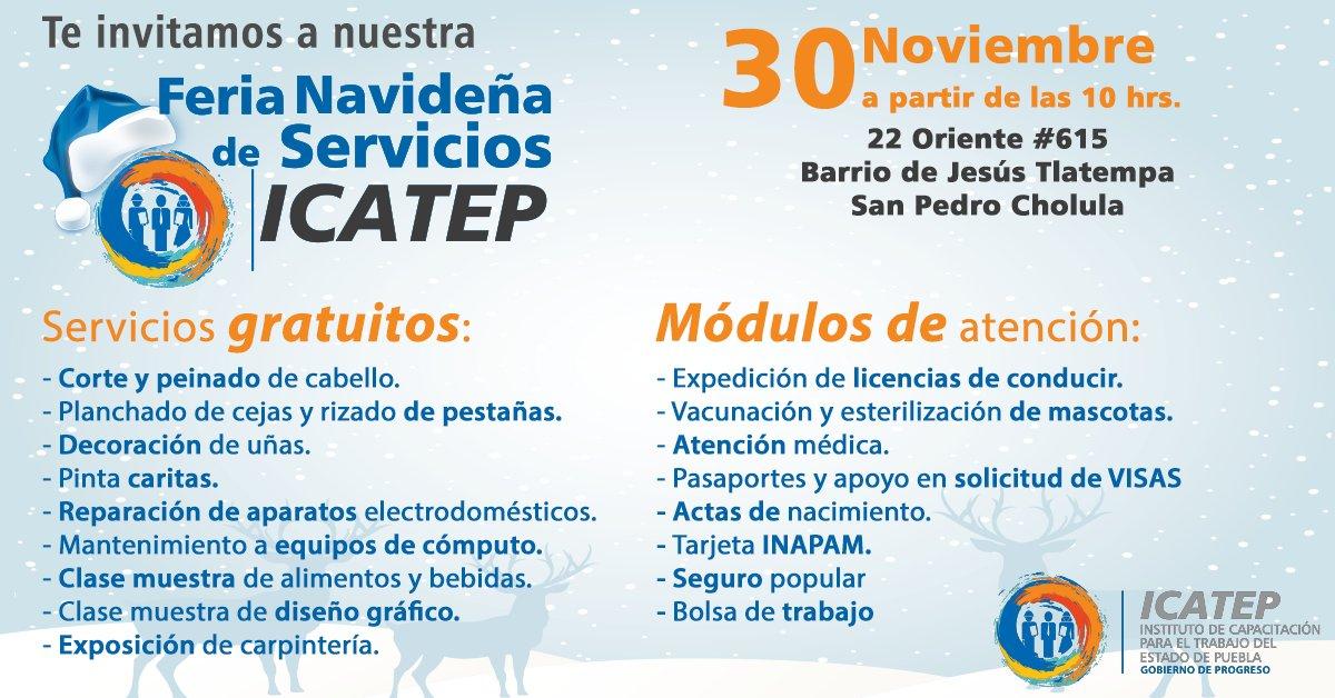 Icatep Cholula On Twitter Te Invitamos A Nuestra Feria
