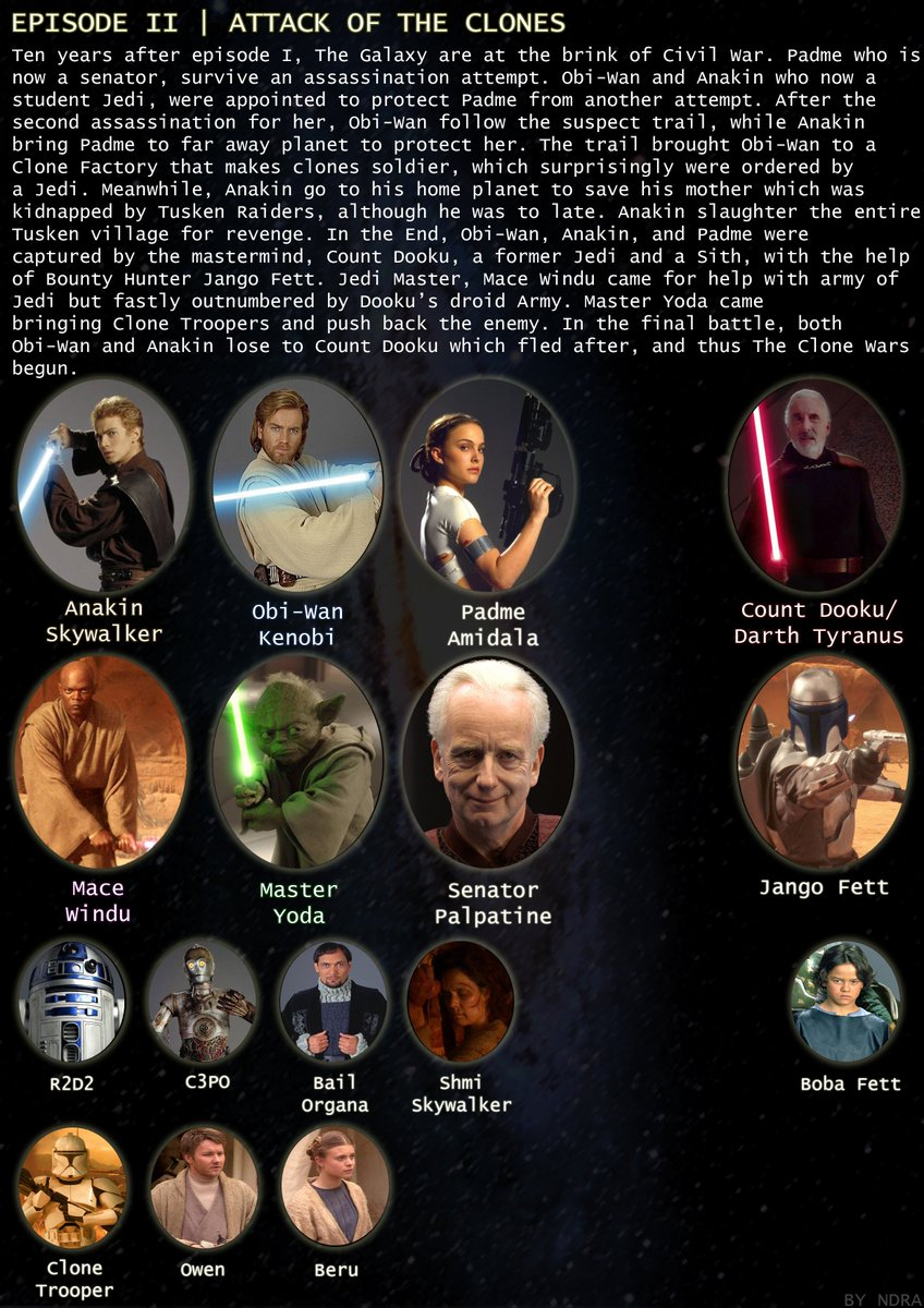 Simple guide to Star Wars Episode II  Attack of The Clones #starwars #attackoftheclones <br>http://pic.twitter.com/20Ye4mUHjS